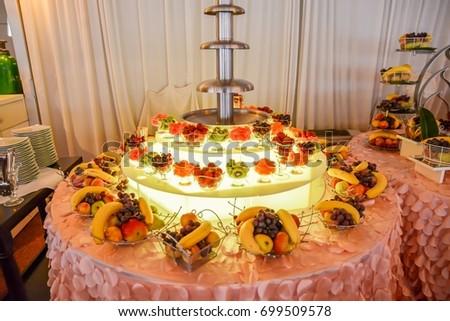 Candy Bar Arrangements Wedding Reception Stock Photo Edit Now