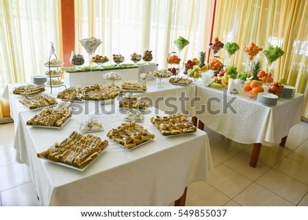 Candy Bar Decoration Wedding Reception Stock Photo Edit Now