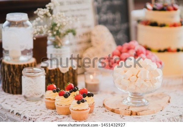 Candy Bar Tasty Desserts Appetizers Wedding Royalty Free Stock Image