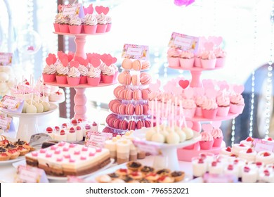 Dessert table images stock photos vectors shutterstock candy bar and wedding cake table with sweets buffet with cupcakes candies watchthetrailerfo