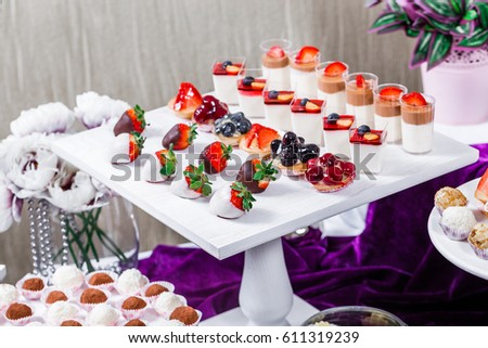 Candy Bar Wedding Reception Table Sweets Stock Photo Edit Now
