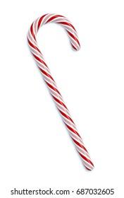 Candy Cane 3D illustration