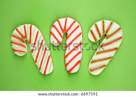 Candy Cane Sugar Cookies Decorative Icing Stock Photo Edit Now