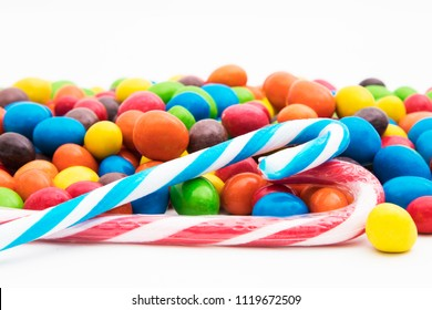 candy and colored candies