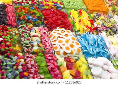 Candy colors varied tastes and exposed for sale