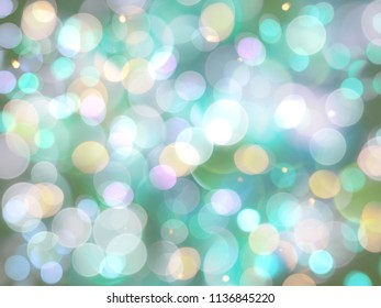 candy coloured crowded bright blurred lights celebration or party abstract background