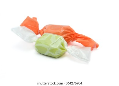 candy green on the white background