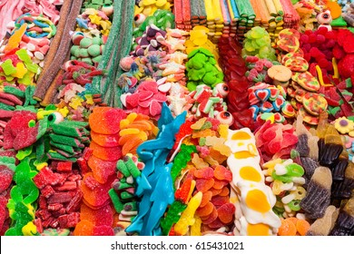 Candy, gum, sweetmeat