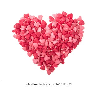Candy Hearts isolated. Valentine's Day