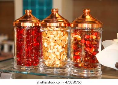 candy in jar