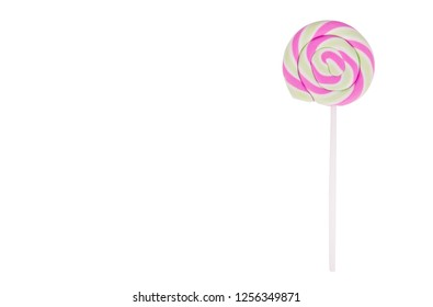Candy on stick. Lollipop on white background.