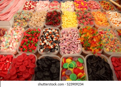 Candy shop/ colorful candy background