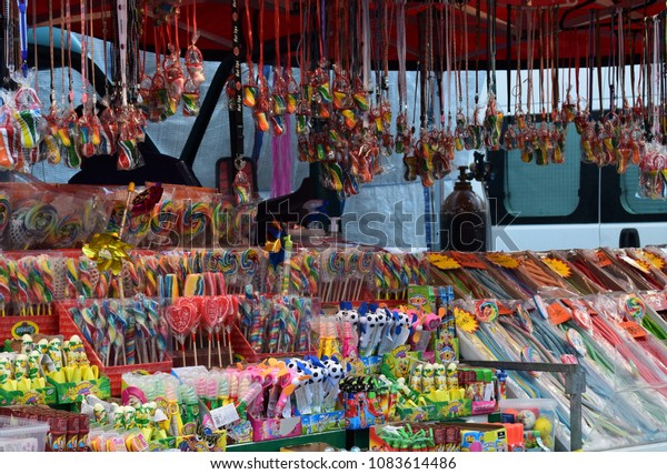 low priced 02ce4 e8553 Candy Shop Outdoor Sale Stand Kongsvinger Stock Photo (Edit ...