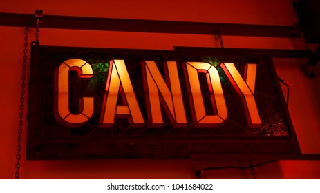 candy sign light up
