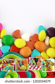 Candy Sweet Lolly Sugary Collage Photo