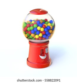 Candy vending machine 3d rendering
