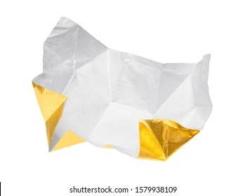 Candy wrapper isolated on white background