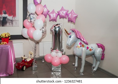 CandyBar. Festive table decoration. Sweet table. Children's Day Births