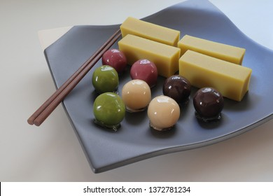 Candy-colored Japanese confectionery