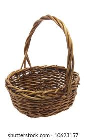 Cane Basket on White Background