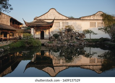 Canglang Pavilion(Surging Wave Pavilion) Garden in  Suzhou,Jiangsu,China is one of the Classical Gardens of Suzhou that are jointly recognized as a UNESCO World Heritage Site.