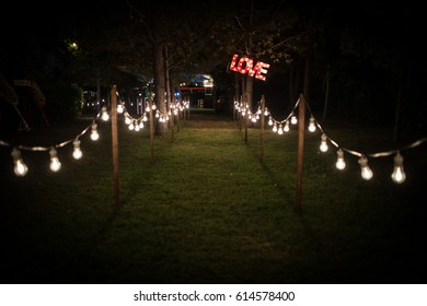 Canival Wedding Style in the garden