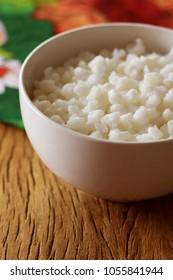 Canjica: Brazilian dessert of white corn. Festa Junina Party. Brazilian Culture.