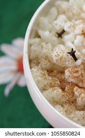 Canjica: Brazilian dessert of white corn. Festa Junina Party Brazilian Culture