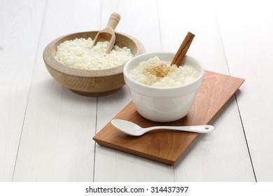 canjica, brazilian sweet dish made with white corn