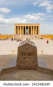 Cankaya,Ankara,Turkey-June 3,2019.Anitkabir,the mausoleum of Turkey's founder Mustafa Kemal Ataturk