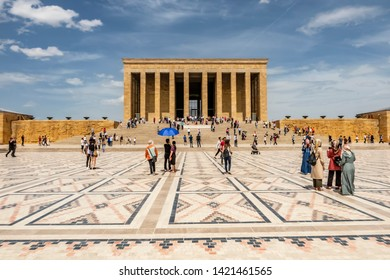 Cankaya,Ankara,Turkey-June 3,2019.Anitkabir,the mausoleum of Turkey's founder Mustafa Kemal Ataturk