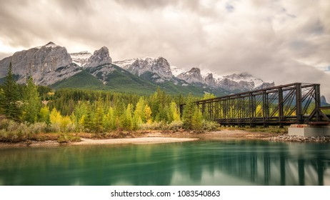 Canmore Engine Bridge - Spur Line and Higashikawa Friendship Trail across the Bow River