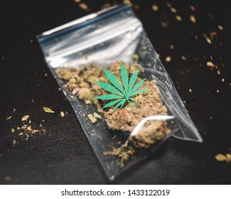 cannabis buds in packet for sale dispensary