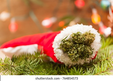 cannabis Christmas background