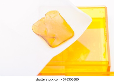 Cannabis concentrate on parchment paper