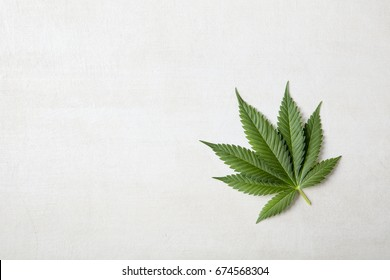 Cannabis Leaf on With stone font