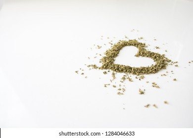 Cannabis Marijuana Heart Shaped Leaf Leaves