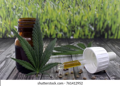 Cannabis oil extract in jar to calm ailments