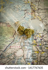 Cannabis on map of Washington state