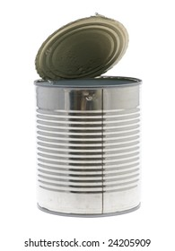 canned bean isolated on the white background