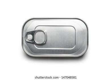 흰색 캔으로 분리된 컨테이너