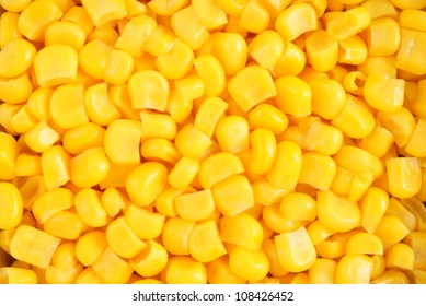 Canned corn background