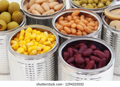 Canned food close up