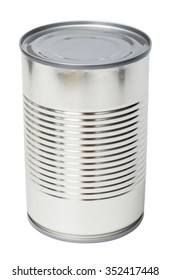 Canned food on a white background.