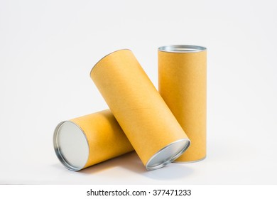 canned packaging with Blank Kraft paper