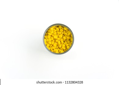 Canned Sweet Corn on white Background