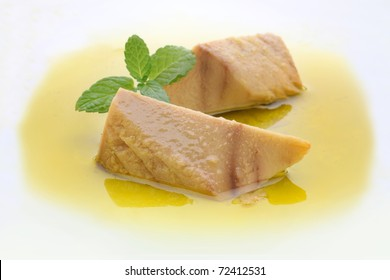 canned tuna in olive oil.