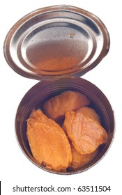 Canned Yams in Can Isolated on White with a Clipping Path.