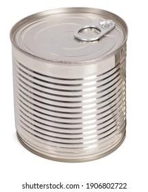 cannedcanned isolated on white background