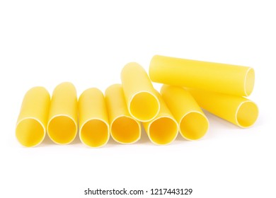 Cannelloni raw pasta on a white background